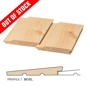 Siberian Larch Cladding Bevel Profile