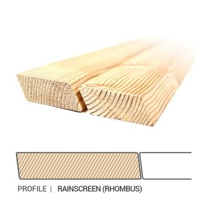Siberian Larch Cladding Rainscreen (Rhombus) Profile