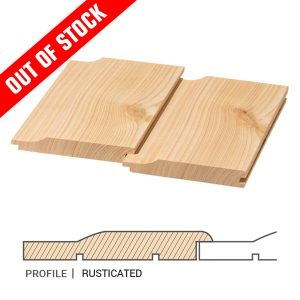 Siberian Larch Cladding Rusticated Profile