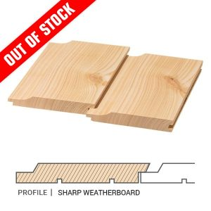 Siberian Larch Cladding Sharp Weatherboard Profile