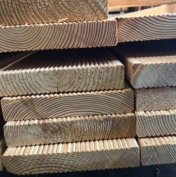 Siberian Larch Decking - Ribbed Profile