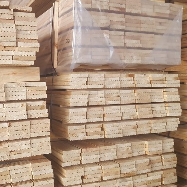 Siberian Larch Decking - Ribbed Profile a