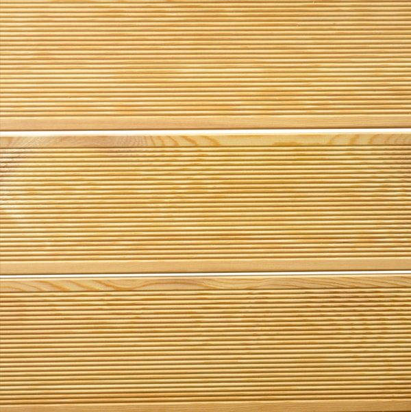 Siberian Larch Decking Ribbed Grooved Profile - Nord Wood Timber