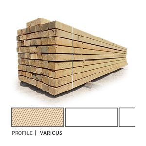 Siberian Larch Sawfalling (I-IV) Grade Sawn Timber 25 x 100mm (1 x 4) Siberian Larch Sawn Timber