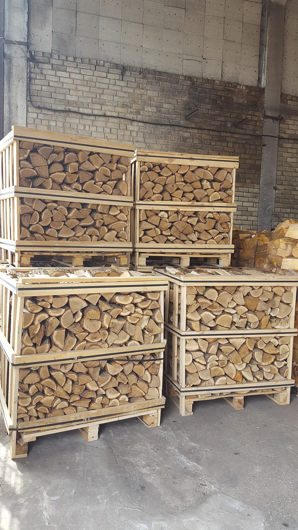Firewood iin Crates