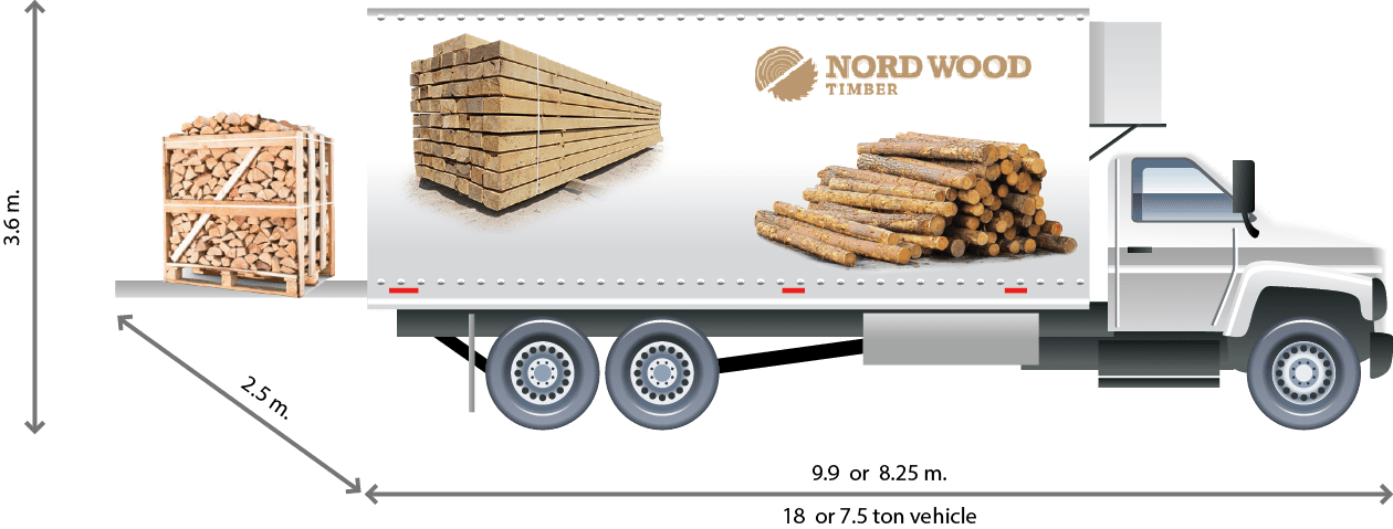 Nord Wood Timber Delivery Van