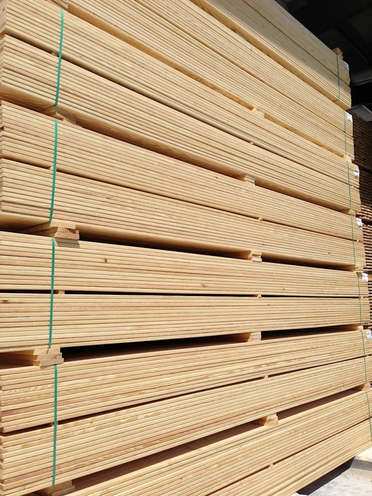 Siberian Larch Decking Smooth Profile