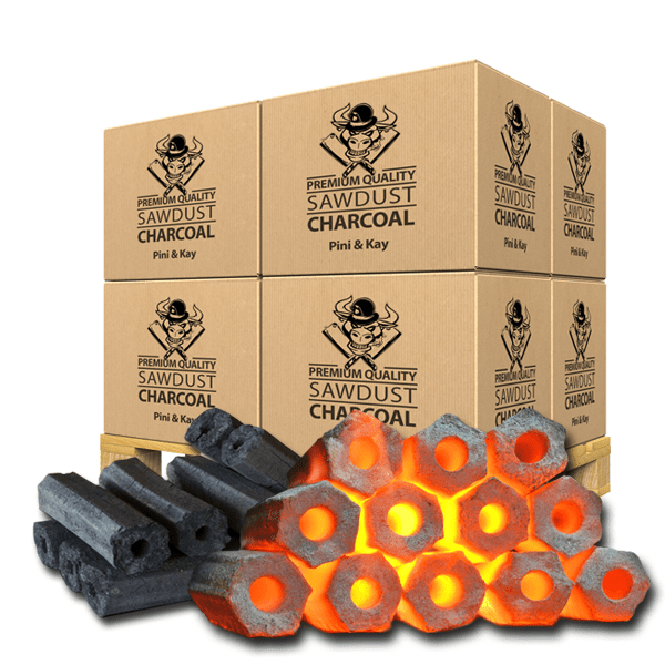 Restaurant Grade Sawdust Charcoal Briquettes Pini & Kay Premium Quality - Meatbusters - Nord Wood Timber
