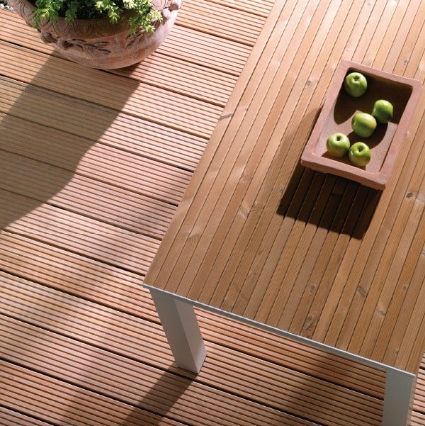 Siberian Larch Decking Grooved Profile