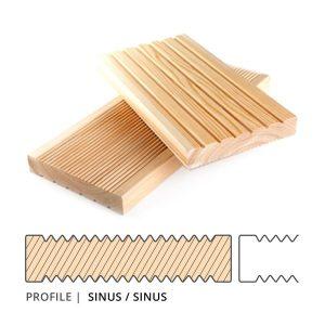 Siberian Larch Decking Sinus Profile - Nord Wood Timber UK
